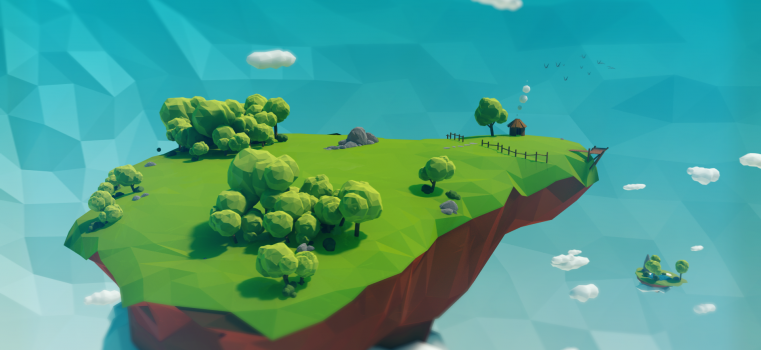 Low Poly Projects – Floating Islands v2